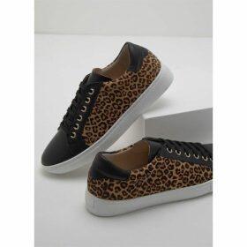 Mint Velvet Allie Leopard Lace Up Trainer