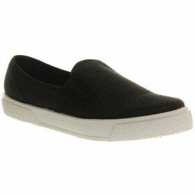 Office Kicker round toe flat slip on trainers