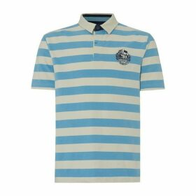 Raging Bull Short Sleeve Stripe Rugby Polo