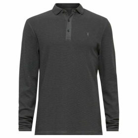 All Saints Clash Long Sleeve Polo