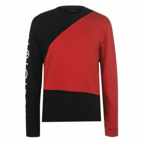 Religion Colour Block Sweatshirt