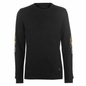 Firetrap Blackseal Embroidered Sleeve Sweatshirt