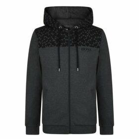 BOSS BODYWEAR Print Hooded Zip Sweatshirt