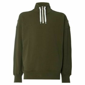 Boss Ztalone Quarter Zip Panelled Sweatshirt