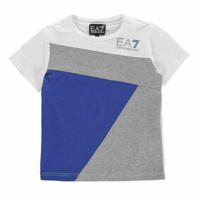 EA7 Colour Block T Shirt