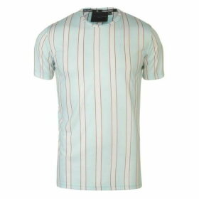 Criminal Damage Criminal Multi Stripe T Shirt