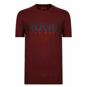 HUGO Olive Olive Logo T Shirt