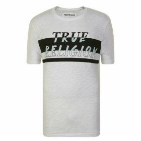True Religion Stripe Logo T Shirt