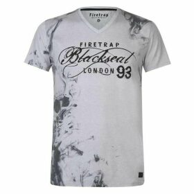 Firetrap Blackseal Smoke V Neck T Shirt