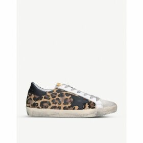 Superstar V35 leopard print leather trainers