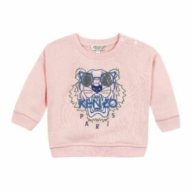 Kenzo Baby Girl Sweat Shirt Salmon Pink