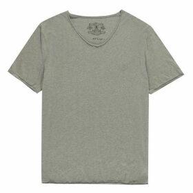 Label Lab Band Pigment Jersey Scoop Neck T-Shirt