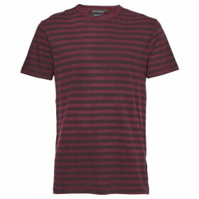 French Connection Garment Dye Stripe Crew Neck T Shirt
