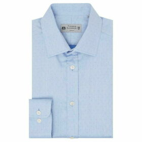 Turner and Sanderson Elvedon Tailored Fit Dobby Spot Shirt