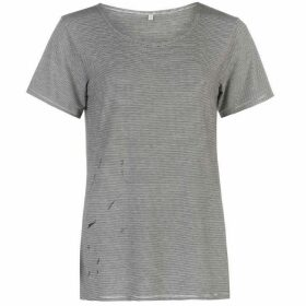 Firetrap Blackseal Distressed T Shirt Ladies
