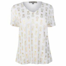 Biba Pineapple Foil T Shirt