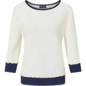 James Lakeland Pearl Contrast Band Top