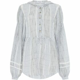Free People Baja Babe Long Sleeve Striped Top
