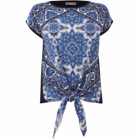 Oasis Santorini tie woven front top