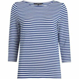 Vero Moda Jany Sonia Mid Sleeve Striped Boat Neck Top