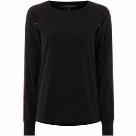 Maison Scotch Long sleeve tee with lurex tape
