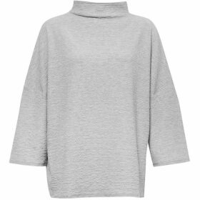 French Connection Sudan Pique Mock Neck Top