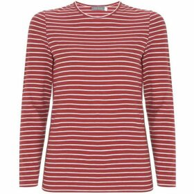 Mint Velvet Cherry & Ivory Striped Tee