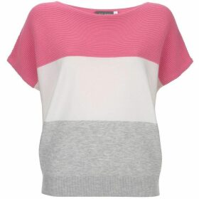 Mint Velvet Pink & Ivory Blocked Tee