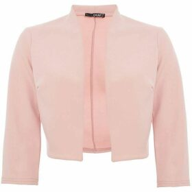 Quiz Pink three quarter Sleeve Crop Jacket