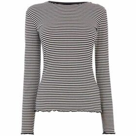 Warehouse Multi Stripe Ribbed Top