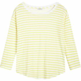 Sandwich Linen Jersey Stripe Top