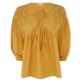 Warehouse Broderie Smock Top