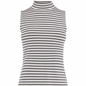 Karen Millen Striped High-Neck Top