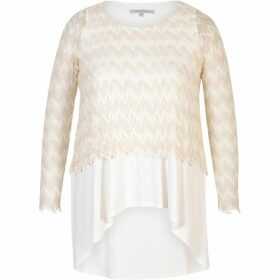 Chesca Scallop Knit Layered Top