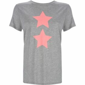 Mint Velvet Grey & Neon Pink Star Tee