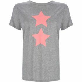 Mint Velvet Grey & Neon Pink Star Tee
