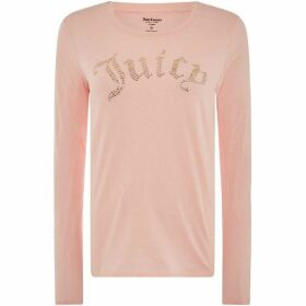 Juicy Couture Gothic Crystals Classic Long Sleeve Jersey Tshirt