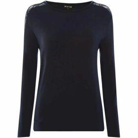 Biba Lace trim long sleeved top