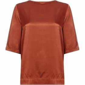 Another Label Dee satin short sleeve top