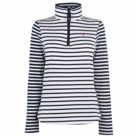 Joules Fairdale Striped Quarter Zip Top