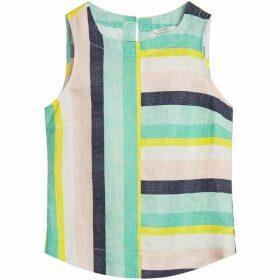 Sandwich Bold Stripe Linen Top