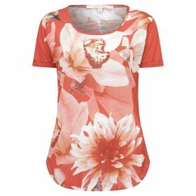 Nougat Crocus Print T Shirt