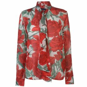 Gant Rose Print Pussy Bow Blouse Ladies