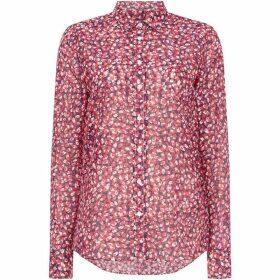 Gant Long Sleeve Button Up Floral Autumn Blouse