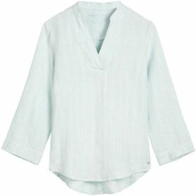 Sandwich Pin Stripe Linen Blouse