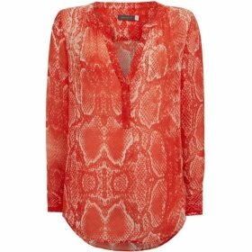 Mint Velvet Red Tori Snake Print Blouse