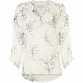 Phase Eight Finn Floral Ruffle Blouse