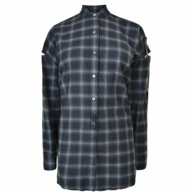 HELMUT LANG Open Plaid Shirt