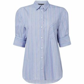 Armani Exchange Mid Sleeve Button Up Pinstripe Shirt