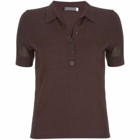 Mint Velvet Chocolate Knitted Polo Shirt